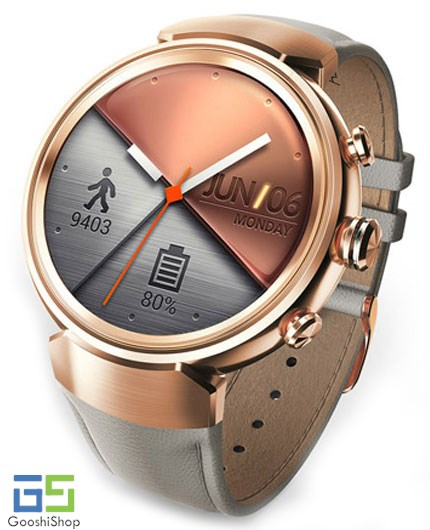 | ASUS  Zenwatch 3 WI503Q Gunmetal with Dark Brown Leather Strap